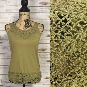 Anthropologie | Moth Sleeveless Green Top